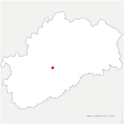 carte de localisation de Noidans-le-Ferroux