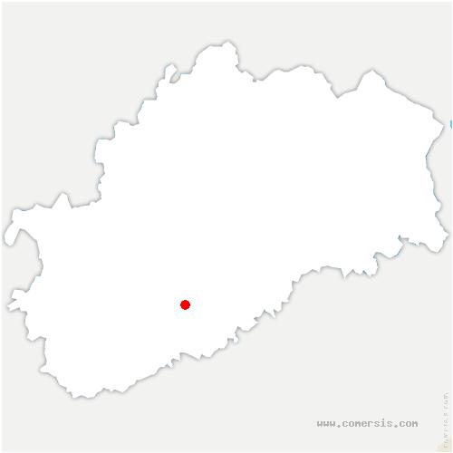 carte de localisation de Oiselay-et-Grachaux