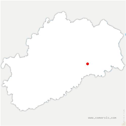 carte de localisation de Oppenans