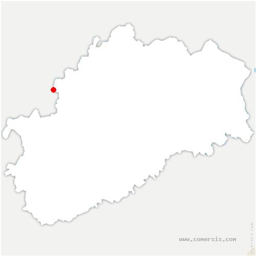 carte de localisation de Ouge