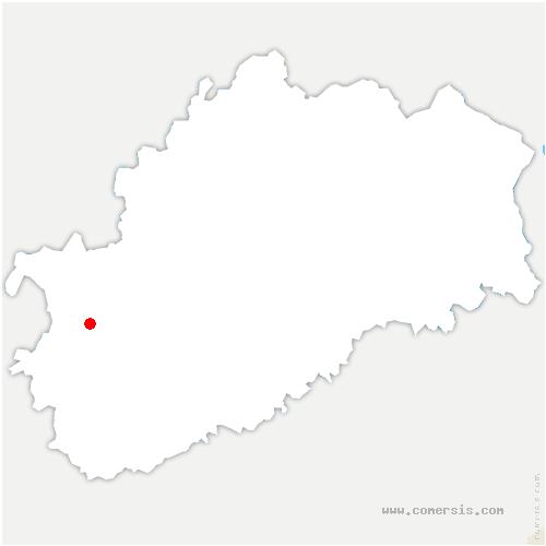 carte de localisation de Oyrières