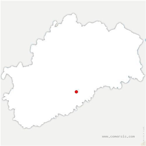 carte de localisation de Pennesières
