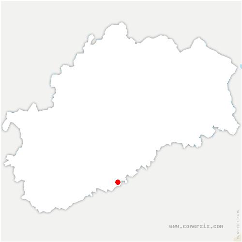 carte de localisation de Perrouse