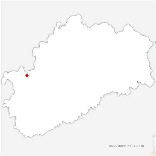 carte de localisation de Pierrecourt