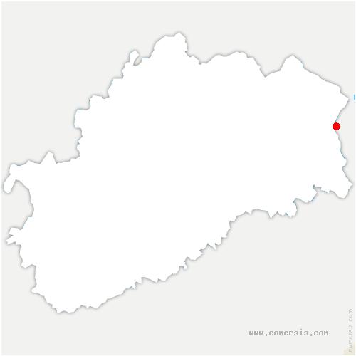 carte de localisation de Plancher-Bas