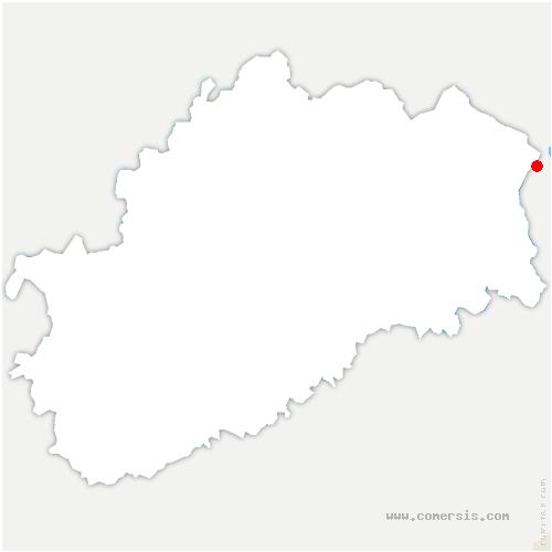 carte de localisation de Plancher-les-Mines