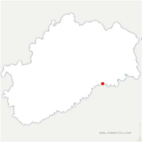 carte de localisation de Pont-sur-l'Ognon