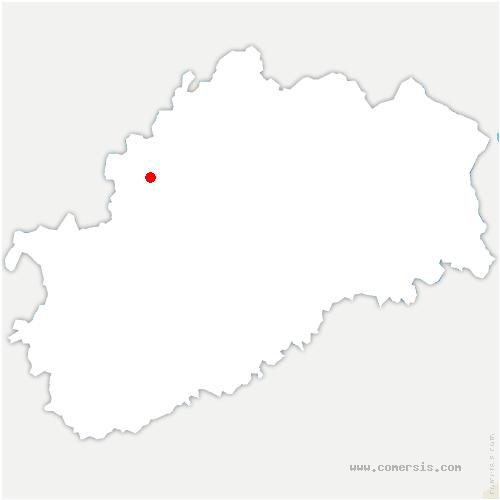 carte de localisation de Preigney