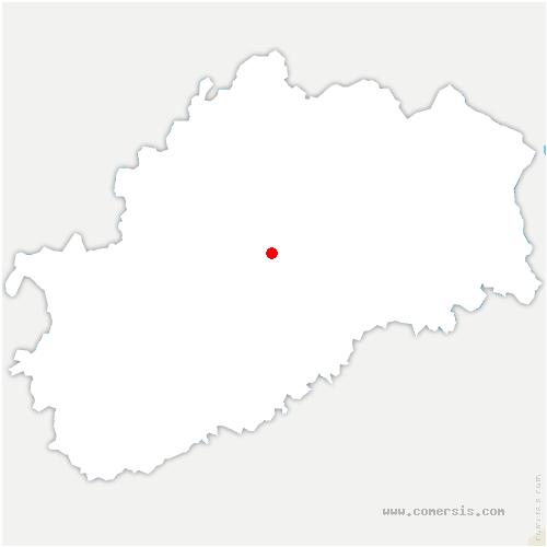 carte de localisation de Pusey