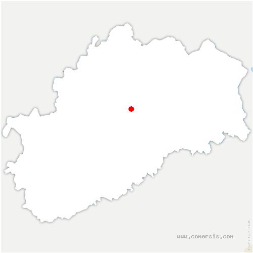 carte de localisation de Pusy-et-Épenoux