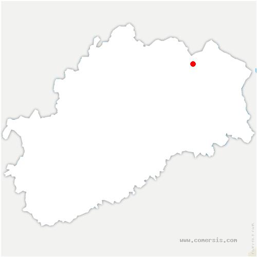 carte de localisation de Raddon-et-Chapendu