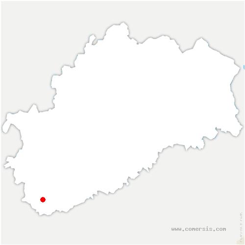 carte de localisation de Résie-Saint-Martin
