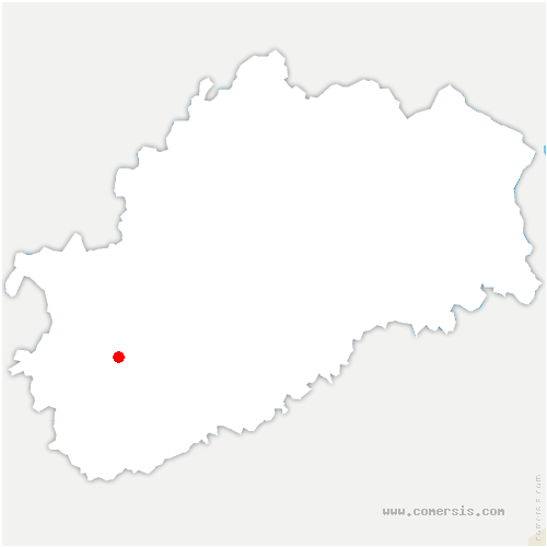 carte de localisation de Rigny