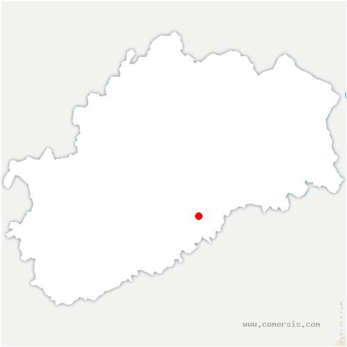 carte de localisation de Roche-sur-Linotte-et-Sorans-les-Cordiers