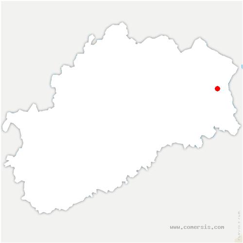 carte de localisation de Ronchamp