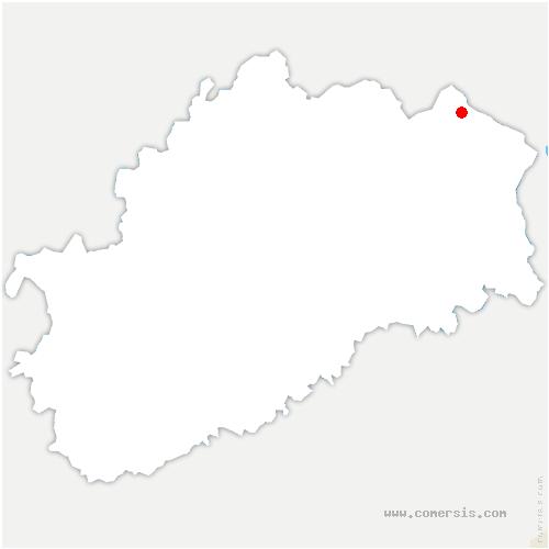 carte de localisation de Rosière