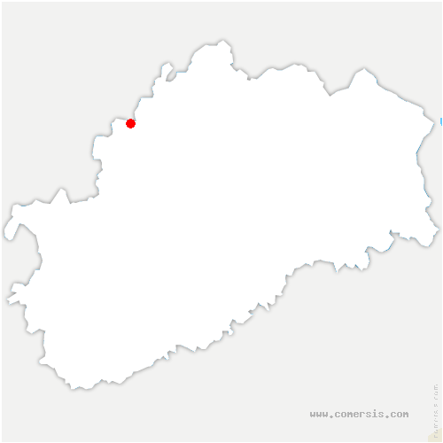 carte de localisation de Rosières-sur-Mance