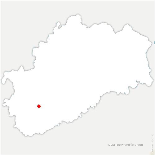 carte de localisation de Saint-Broing