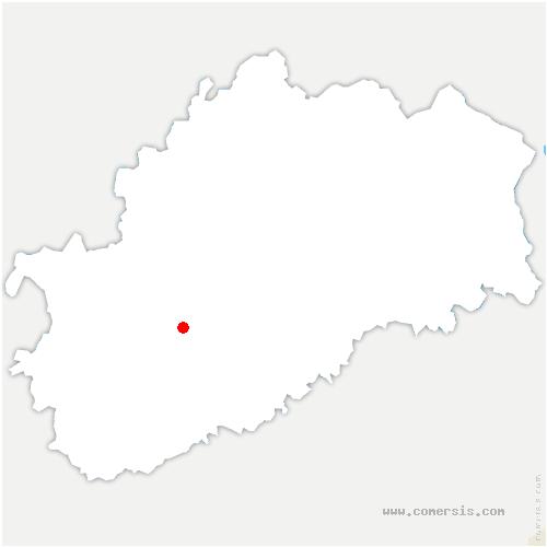 carte de localisation de Saint-Gand