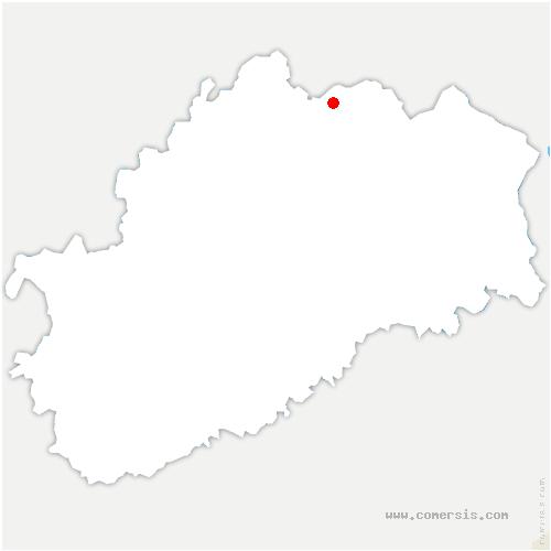 carte de localisation de Saint-Loup-sur-Semouse