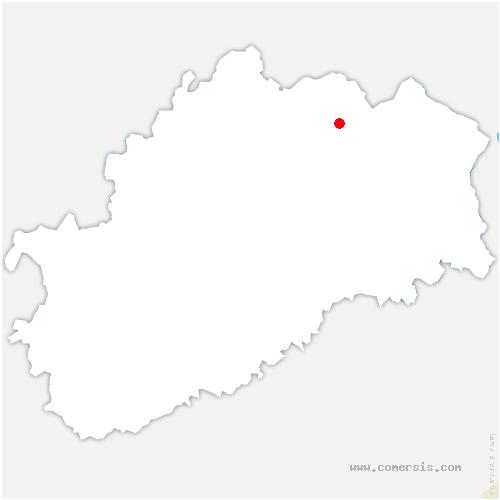 carte de localisation de Saint-Valbert