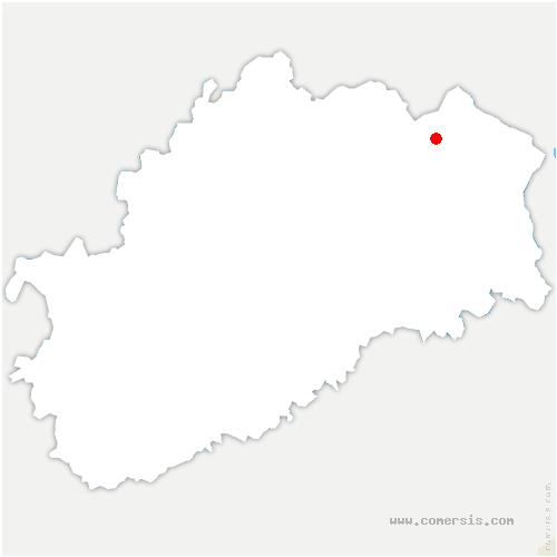 carte de localisation de Sainte-Marie-en-Chanois