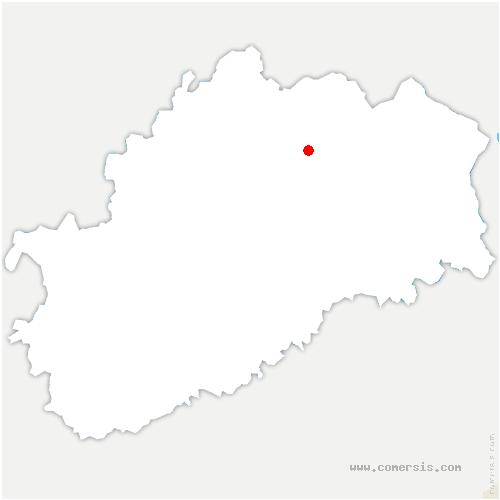 carte de localisation de Sainte-Marie-en-Chaux