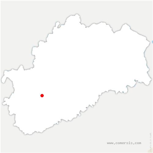 carte de localisation de Sainte-Reine