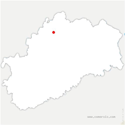 carte de localisation de Saponcourt