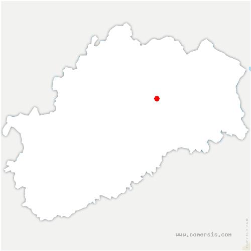 carte de localisation de Saulx