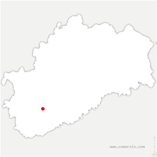 carte de localisation de Sauvigney-lès-Gray