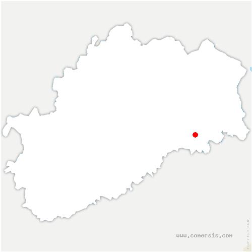 carte de localisation de Senargent-Mignafans