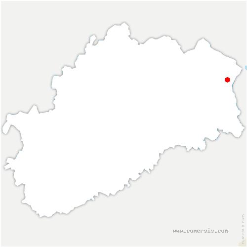 carte de localisation de Servance-Miellin