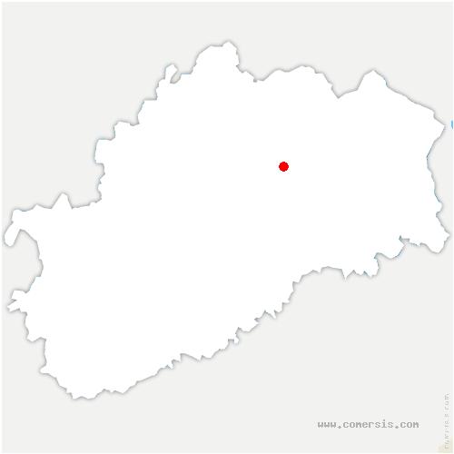 carte de localisation de Servigney