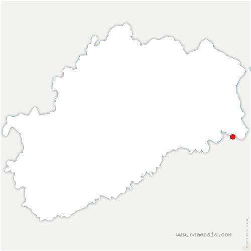 carte de localisation de Trémoins