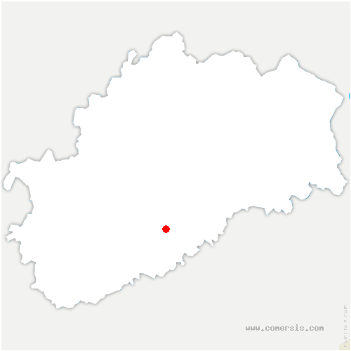 carte de localisation de Trésilley