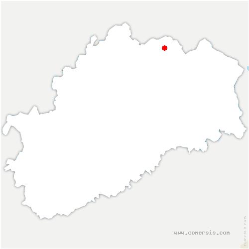 carte de localisation de Vaivre