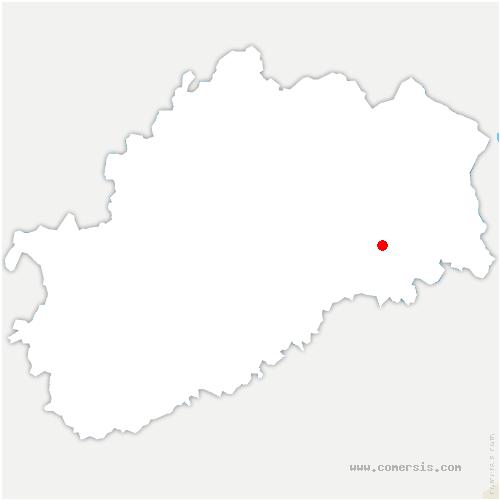 carte de localisation de Val-de-Gouhenans