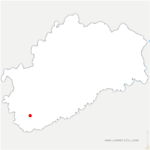carte de localisation de Valay
