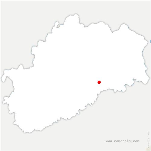 carte de localisation de Vallerois-le-Bois