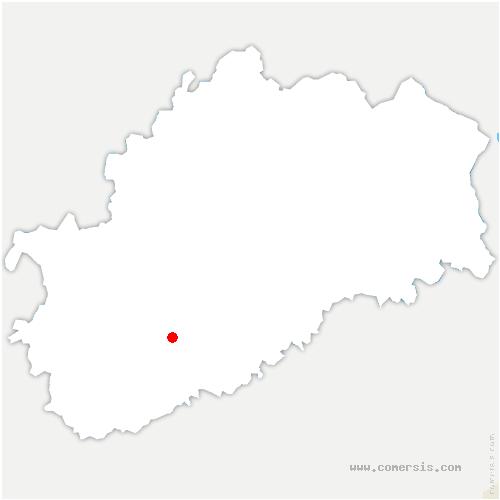 carte de localisation de Vantoux-et-Longevelle