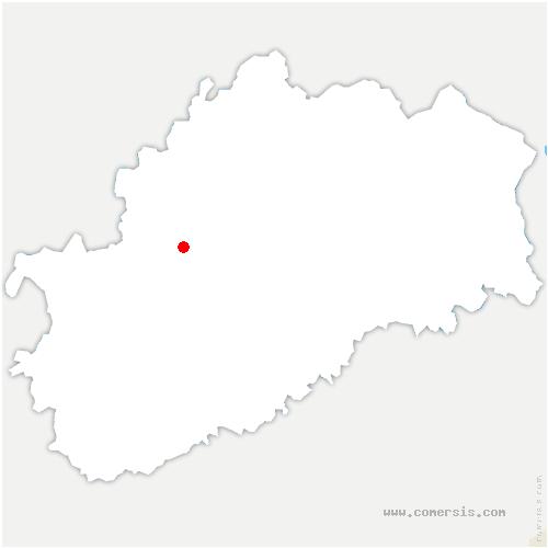 carte de localisation de Vauconcourt-Nervezain
