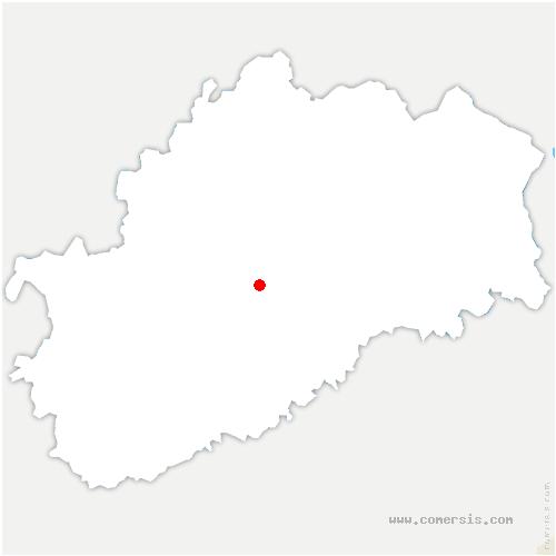 carte de localisation de Velle-le-Châtel