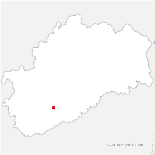 carte de localisation de Velleclaire