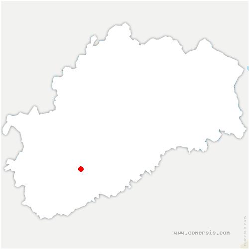 carte de localisation de Vellefrey-et-Vellefrange