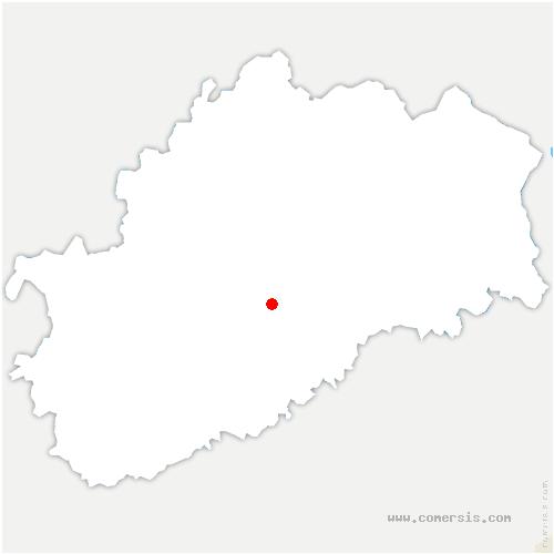 carte de localisation de Velleguindry-et-Levrecey