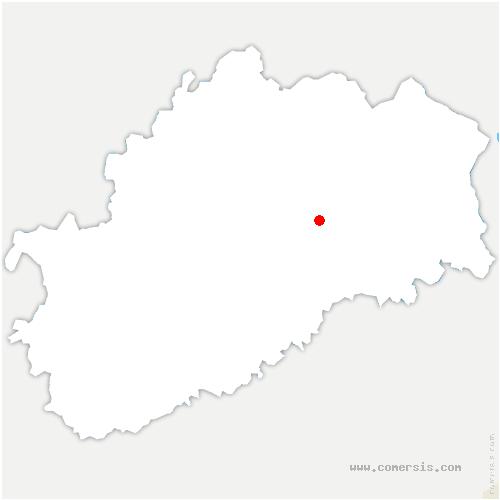 carte de localisation de Velleminfroy
