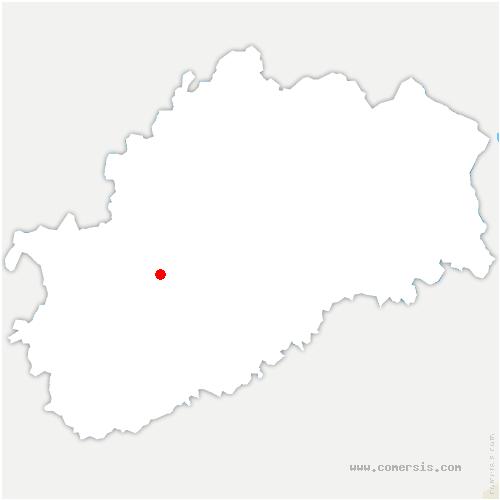 carte de localisation de Vellexon-Queutrey-et-Vaudey