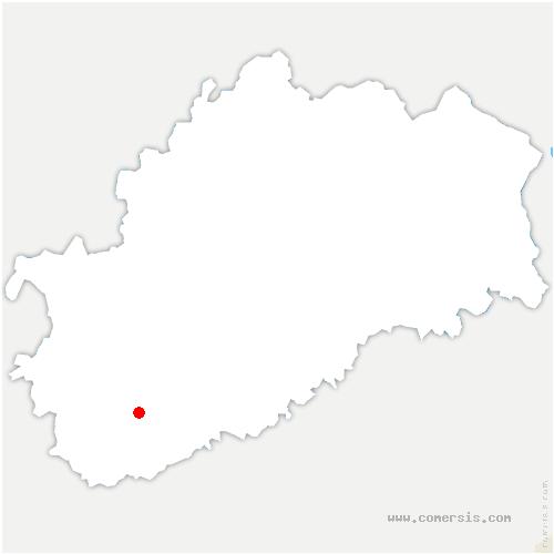 carte de localisation de Velloreille-lès-Choye