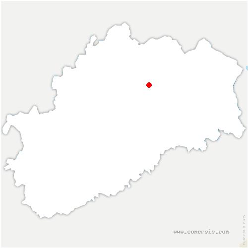 carte de localisation de Velorcey